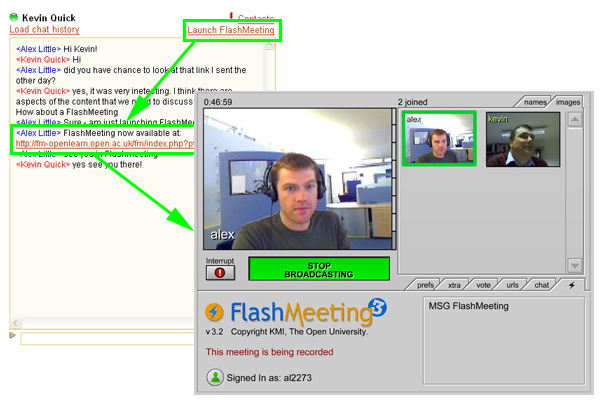 MSG FlashMeeting integration