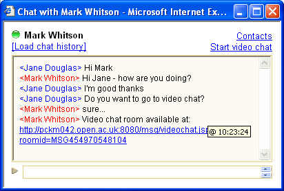 Launch video chat
